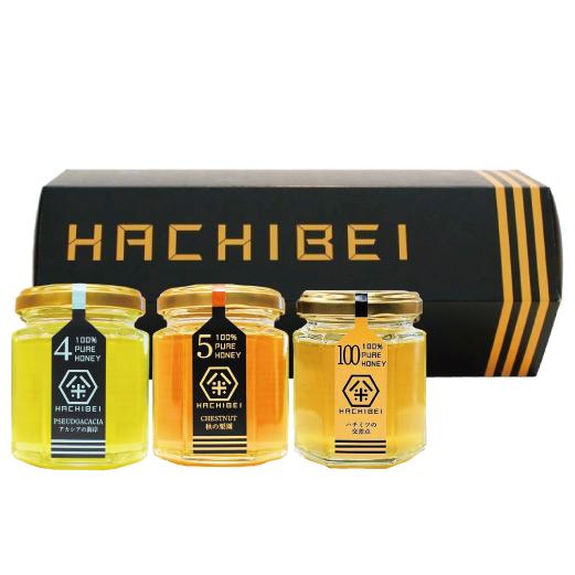 HACHIBEI(はちべい)【No.4・No.5・No.100】八米 プレミアムセット |国産はちみつ はちべいの蜂蜜 八米
