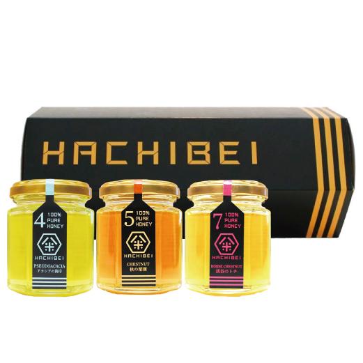 HACHIBEI(はちべい)【No.4・No.5・No.7】八米 プレミアムセット  国産はちみつ はちべいの蜂蜜 八米