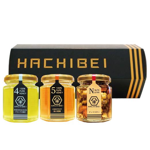 HACHIBEI(はちべい)【No.4・No.5・ナッツスター】八米 プレミアムセット |国産はちみつ はちべいの蜂蜜 八米