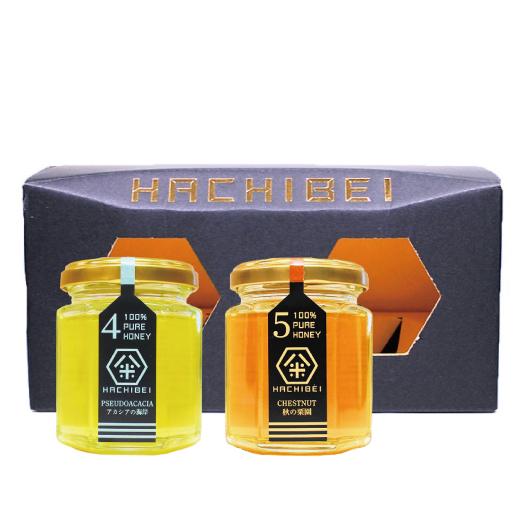 HACHIBEI(はちべい)【No.4・No.5】八米 オススメセット(120g×2)|国産はちみつ はちべいの蜂蜜 八米